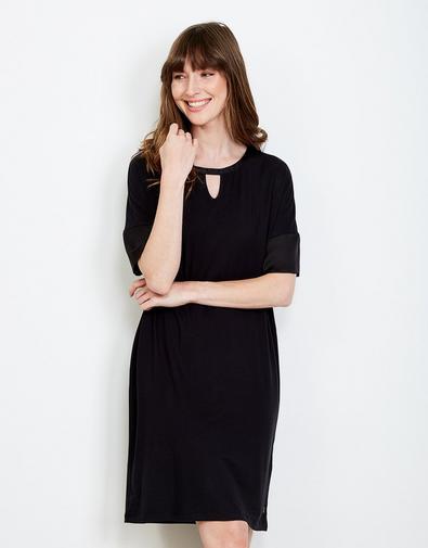 Zwarte viscose jurk